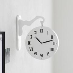 플 양면시계 화이트