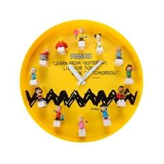 스누피와 친구들 피규어 DIY 벽걸이 캐릭터시계_(553668)