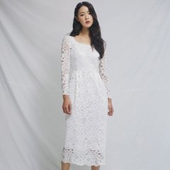 [CLAIR DE LUNE] TIFFANY DRESS WHITE