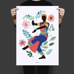 인도 인테리어 디자인 포스터 M 나마스테 인도전통춤 까딱