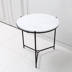 스크래치 모던시크 마블 대리석 사이드 원형 테이블_(570369)