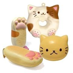 말랑말랑 촉감 짱 슈퍼 스퀴시(고양이모음) 일본정품 직수입