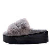 kami et muse Rich fur top platform tall up slippers _KM17w136