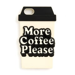 silicone iphone case, more coffee please