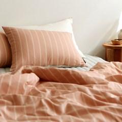 Bedding set (cotton) - 39 Pink simple line Q(퀸)