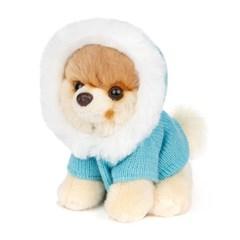 월드넘버원 하늘색코트 부 강아지인형-4060301