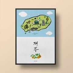 유니크 인테리어 디자인 포스터 M 제주도 제주 JEJU