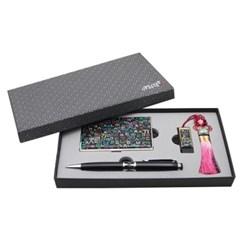 아리랑 로트 전통자개USB + 자개볼펜 + 명함케이스 SET 8GB