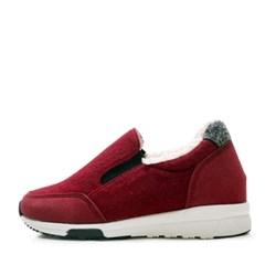 kami et muse Suede combi fur slip on sneakers_KM17w156