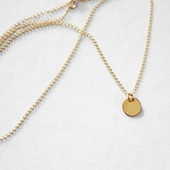 14K. CIRCLE SLIM NECKLACE