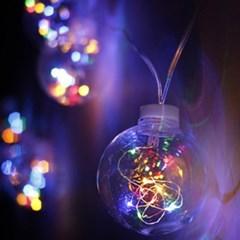 LED 80p 드럼 라운드볼 지름10cm 투명선 - 3color_(1013938)