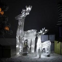 LED 화이트 사슴(전구포함)-3size_(1013933)