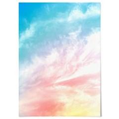 패브릭 천 포스터 F124 하늘 풍경 파스텔 구름 no.2