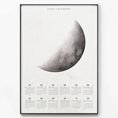 2018 달력 북유럽 포스터 액자 Quarter Moon