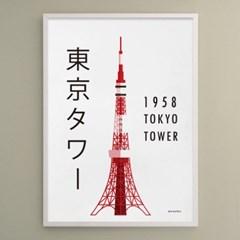 일본 인테리어 디자인 포스터 M 도쿄타워1958 일본소품