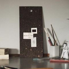 [LOW KEY] Black cork pin board - Small (로우키 코르크 핀보드-S)