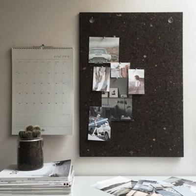 [LOW KEY] Black cork pin board - Large (로우키 코르크 핀보드-L)