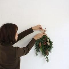 크리스마스 행잉부케리스 클래스
