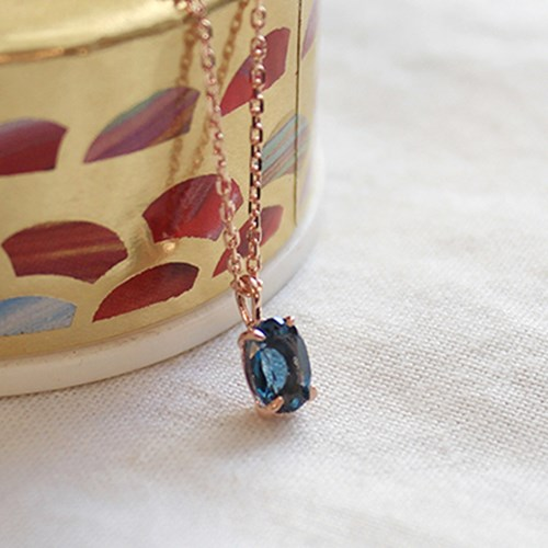 런던블루 토파즈 메리 목걸이 london blue topaz merry necklace