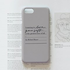 Calligraphy Phone case _ LOVE YOURSELF (WARM GRAY)