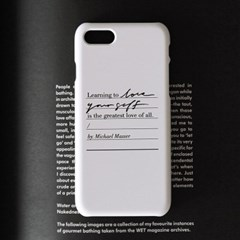 Calligraphy Phone case _ LOVE YOURSELF (WHITE)
