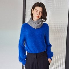 ROMANTIC ANGORA KNIT_BLUE