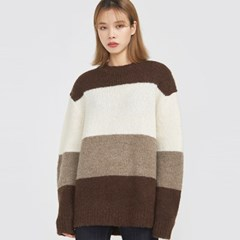 cocoa wide stripe knit_(797873)