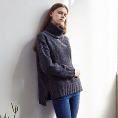 MILD POLO NECK SWEATER (CHARCOAL)