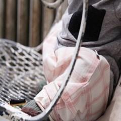큰체크무늬 배기팬츠-baggy pants
