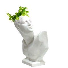 인테리어 석고상화분 투우사 20cm내외 공기정화식물 선인장 화분