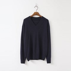 Lulu Cashmere N Wool V-Neck Knit