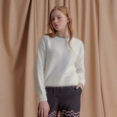 High Angora Knit WHITE