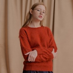 High Angora Knit BRICK ORANGE