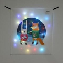 겨울친구들 LED 패브릭 액자 포스터 커튼 (58x66cm)