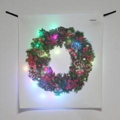 리스 LED 패브릭 액자 포스터 커튼 (58x66cm)