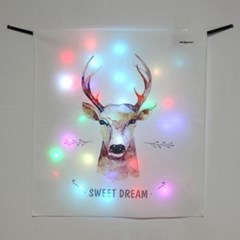 스윗드림 디어 LED 패브릭 액자 포스터 커튼 (58x66cm)