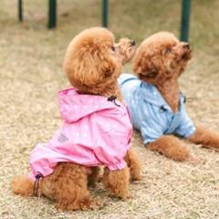 [리얼펫] 엔젤 베이비 레인코트 강아지우비 애견비옷