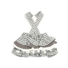 [monchouchou] Vanilla Check Dress_Gray