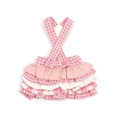 [monchouchou] Vanilla Check Dress_Pink