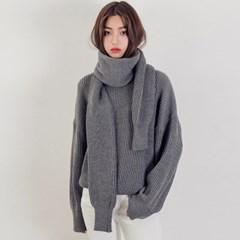 [로코식스] muffler set daily knit/니트_(711894)