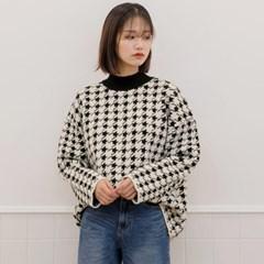 [로코식스] corte tooth check wool knit/니트_(711889)