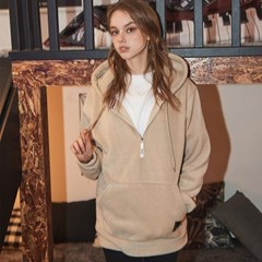 Crump fleece half zipup hoodie (CT0114-2)