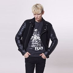 [셀렉온]Leather sleeve rider jacket_(1761218)