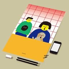 유니크 인테리어 디자인 포스터 M 노래
