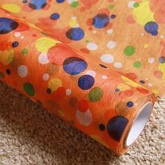 부직포 롤 포장지 - 부직롤 플로라 물방울