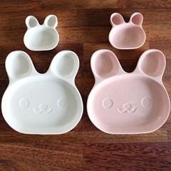 더홈스 토끼&곰돌이 나눔접시 4p세트