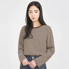 tiny stripe simple T_(801705)