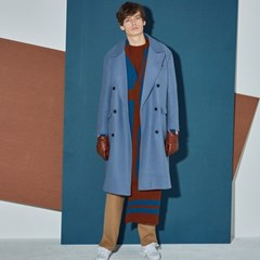 OVER SIZE DOUBLE COAT_BL