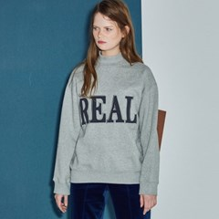 REAL HALF NECK SWEATSHIRT_GY