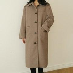 Pocket single long coat
